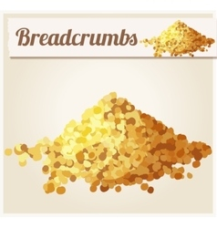 Bread crumbs detailed icon vector