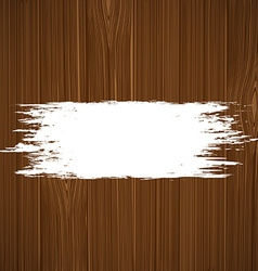 White paint on a wooden surface vector