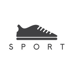Abstract icon design template of sport shoes vector