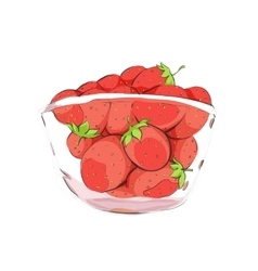 Strawberries in cup vector