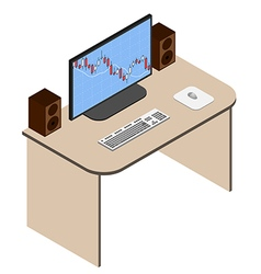 Forex analyst working place vector