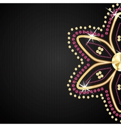 Abstract beautiful black diamond background vector image