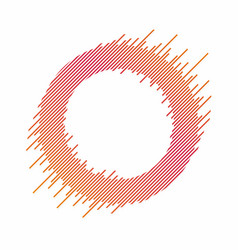 abstract circle with dynamic lines abstract vector image