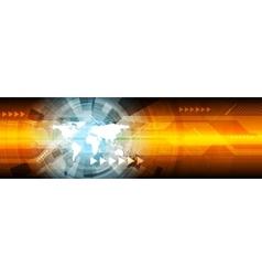 Abstract hi-tech bright web banner design vector