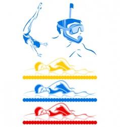 aquatics vector image vector image