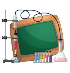 board template with science equipments vector image