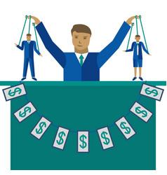 business management flat vector image