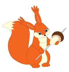 Cartoon squirrel vector