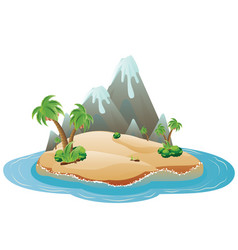 Cartoon volcano island vector