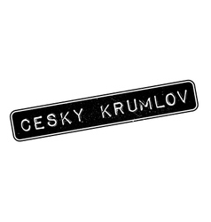 Cesky Krumlov rubber stamp vector image vector image