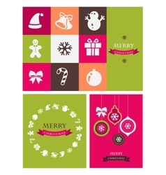 Christmas retro icons elements and vector