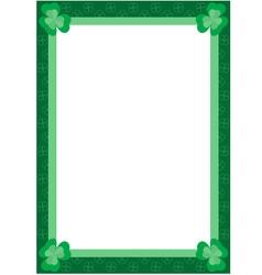 Clover frame vector
