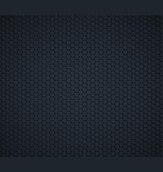 dark gray technology hexagon honeycomb background vector image vector image
