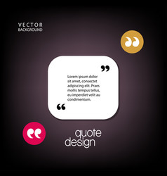 digital quote frames box vector image vector image