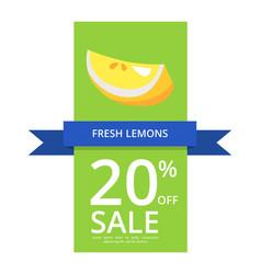 Fresh lemons 20 off sale vector