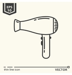 Hairdressing tools icons series hair dryer vector
