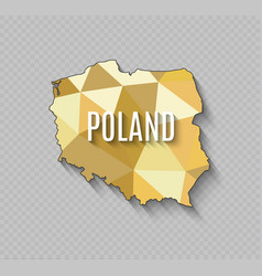 high quality map of poland with borders of the vector image vector image