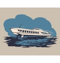 Hydrofoil ship 1 vector