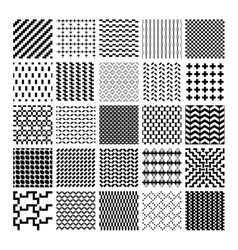 Monochrome geometric seamless patterns vector image vector image