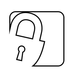 safe padlock isolated icon vector image vector image