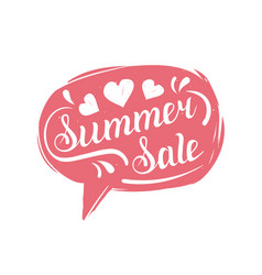 summer sale typography in speech bubble discount vector image