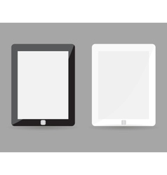 Two realistic tablet pc concept - black and white vector image vector image
