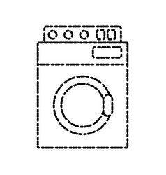 washer machine appliance vector image vector image