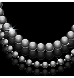 Glossy beads vector