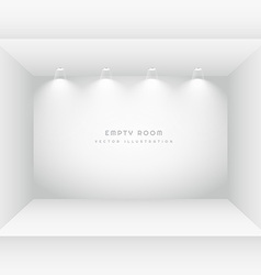 Empty room with spot lights vector