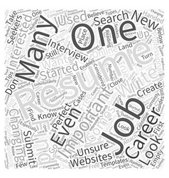 What to do if you dont know how to write a resume vector