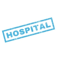 Hospital rubber stamp vector