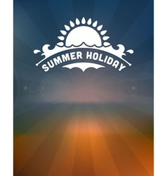 Retro summer design poster vector
