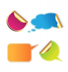 Set of colored stickers vector