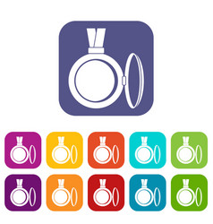 Medallion icons set flat vector