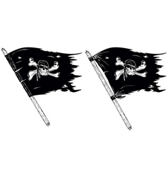 Pirate flags vector