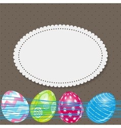 Beautiful easter egg background vector