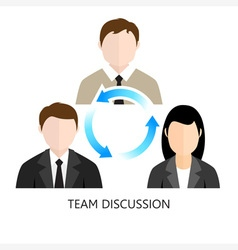Team discussion icon flat design concept vector