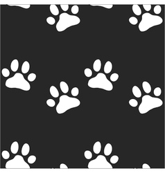 Paw zoo pattern for animal and textile vector