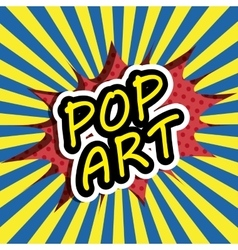 Pop art cartoon graphics vector