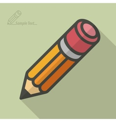 Wooden pencil stylized vector image