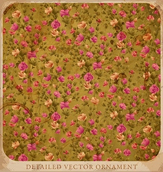 Vintage floral wallpaper vector