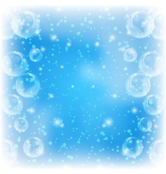 Background bubbles on blue vector