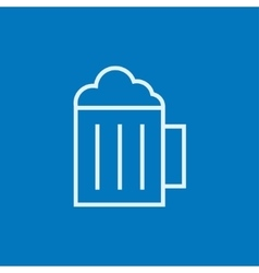 Mug of beer line icon vector