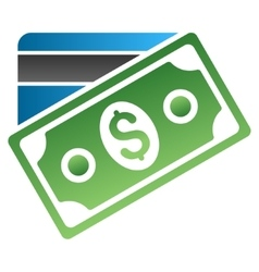 Banknote and credit card gradient icon vector