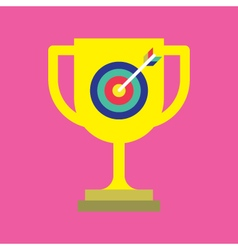 Archery and trophy icon vector