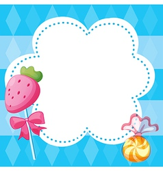 A stationery template with candies vector image