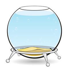 aquarium on a white background vector image
