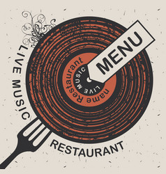 Banner for restaurant menu with live music vector
