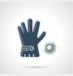 blue golf glove flat color icon vector image vector image