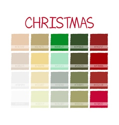 Christmas classic color tone with code vector